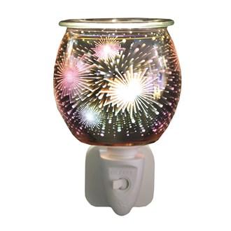 Wax Melt Burner Plug In - 3D Glass Firework