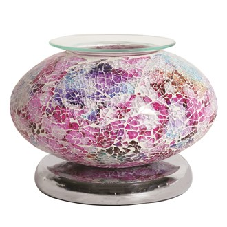 Electric Wax Melt Burner Touch - Pink Mosaic Ellipse