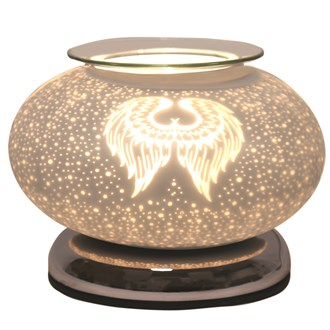 Electric Wax Melt Burner Touch - White Satin Angel Wings Ellipse