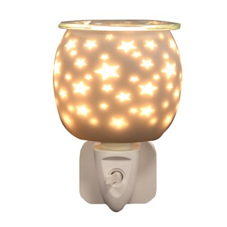Wax Melt Burner Plug In - White Satin Star