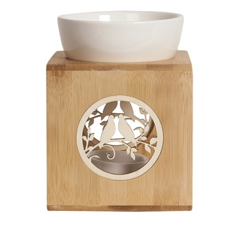 Wax Melt Burner – Zen Bamboo Doves