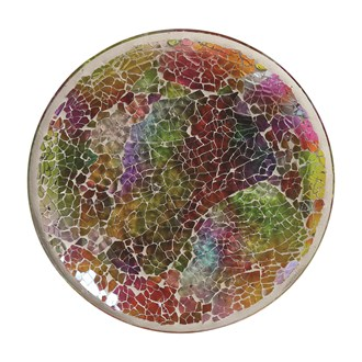 Candle Plate - Rainbow Crackle