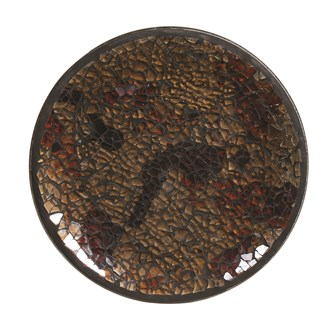 Candle Plate - Amber Crackle
