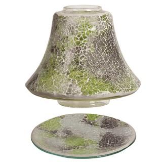 Jar Shade & Tray Set - Jade Crackle