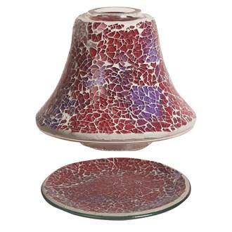 Jar Shade & Tray Set - Crimson Crackle