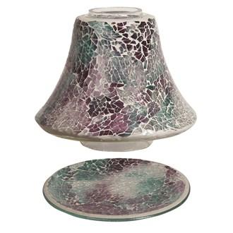 Jar Shade & Tray Set - Teal Crackle