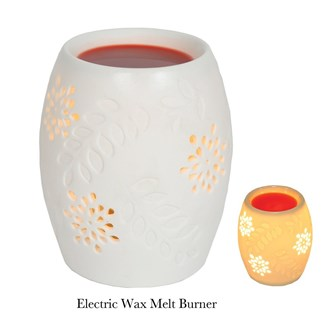 Electric Wax Melt Burner - Ceramic Floral