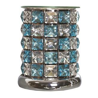 Crystal Electric Wax Melt Burner - Blue Check