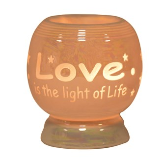 Electric Wax Melt Burner - 'Love Is The Light Of Life'