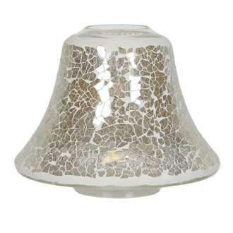 Candle Jar Lamp Shade - Gold Lustre