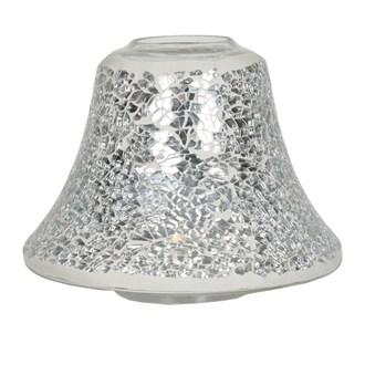 Candle Jar Lamp Shade - Silver Lustre Mosaic
