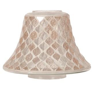 Candle Jar Lamp Shade - Glitter Teardrop Mosaic