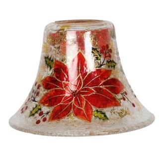 Golden Poinsettia Candle Jar Lamp Shade 16cm