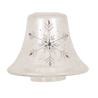 Frosted Snowflake Candle Jar Lamp Shade 16cm