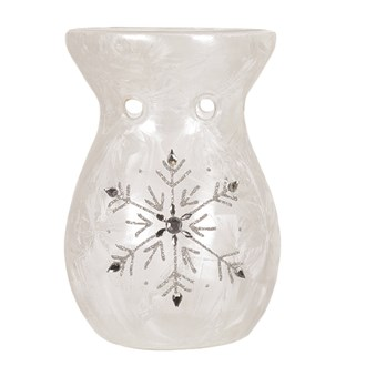 Frosted Snowflake Wax Melt Burner 14cm
