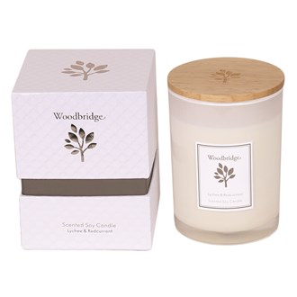 Woodbridge Lychee & Redcurrant Medium Soy Candle