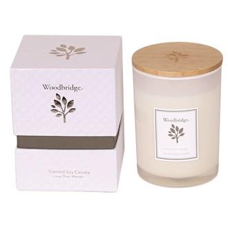 Woodbridge Lime Over Mango Medium Soy Candle