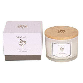Woodbridge Pink Champagne Large Soy Candle
