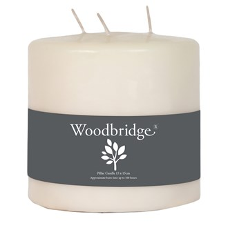 Woodbridge Pillar Candle 3 Wick - Ivory