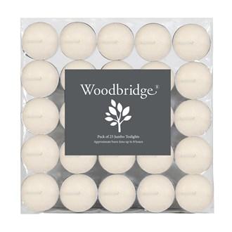 Woodbridge Tealights - Long Burn, Ivory