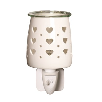 Wax Melt Burner Plug In - Ceramic Hearts