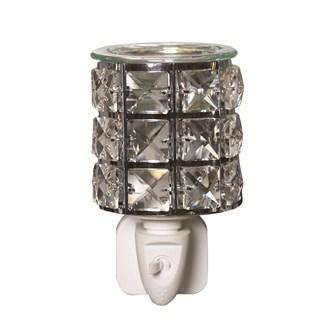 Wax Melt Burner Plug In - Metal and Crystal