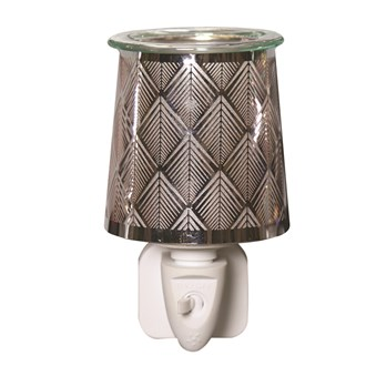 Wax Melt Burner Plug In - Metal Diamond