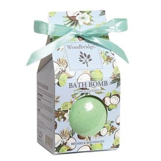 Lime & Coconut - Fragranced Bath Bomb by Woodbridge