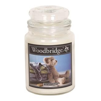 Clean Linen Woodbridge Large Scented Candle Jar