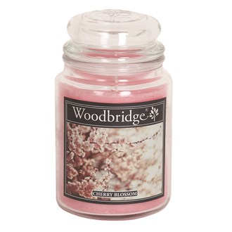 Cherry Blossom Woodbridge Large Scented Candle Jar