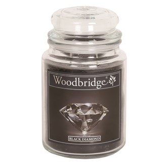 Black Diamond Woodbridge Large Scented Candle Jar