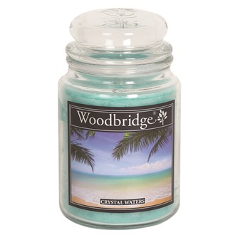 Crystal Waters Woodbridge Large scented Candle Jar