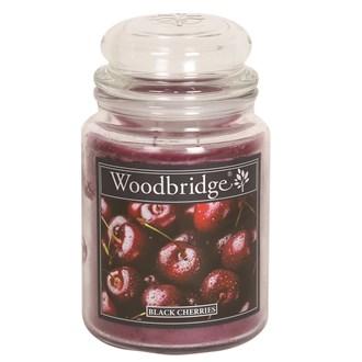 Black Cherries Woodbridge Large Scented Candle Jar