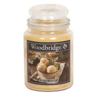 Creamy Vanilla Woodbridge Large Scented Candle Jar