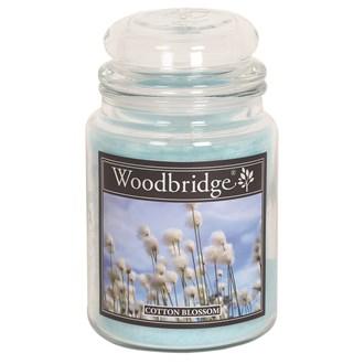 Cotton Blossom Woodbridge Large Scented Candle Jar