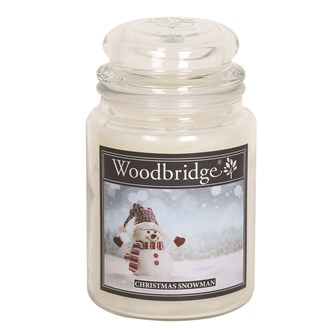 Christmas Snowman Woodbridge Large Scented Candle Jar