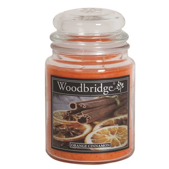 Orange Cinnamon Woodbridge Large Scented Candle Jar