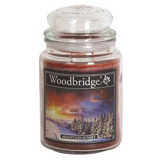 Mountain Sunset Woodbridge Large Scented Candle Jar