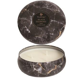 Woodbridge Marble Candle Tin - Black Diamond