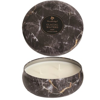 Woodbridge Marble Candle Tin - Glacial Waters