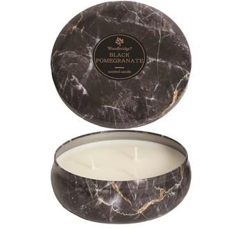 Woodbridge Marble Candle Tin - Black Pomegranate