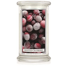 Frosted Cranberry 22oz Candle Jar