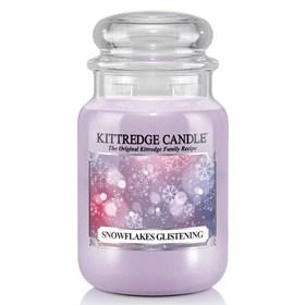 Snowflakes Glistening 23oz Candle Jar