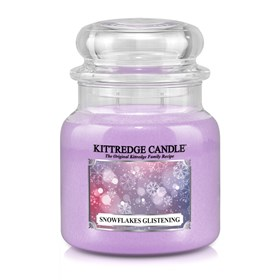 Snowflakes Glistening 16oz Candle Jar