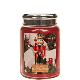 Royal Nutcracker Village Candle 26oz Scented Candle Jar