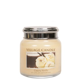 Creamy Vanilla Village Candle 16oz Scented Candle Jar