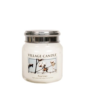 Pure Linen Village Candle 16oz Scented Candle Jar