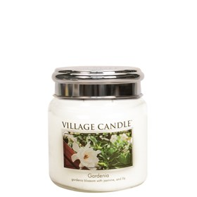 Gardenia Village Candle 16oz Scented Candle Jar - Metal Lid