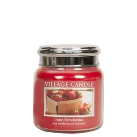 Fresh Strawberries Village Candle 16oz Scented Candle Jar