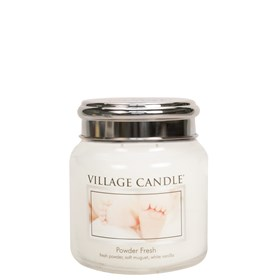 Powder Fresh Village Candle 16oz Scented Candle Jar - Metal Lid